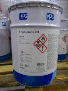 Fire-proofing paints Steelguard 801