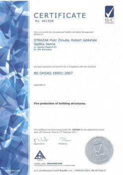 systemy przeciwpożarowe - certyfikat jakości 1