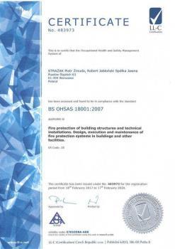 systemy przeciwpożarowe - certyfikat jakości 4