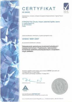 systemy przeciwpożarowe - certyfikat jakości 5