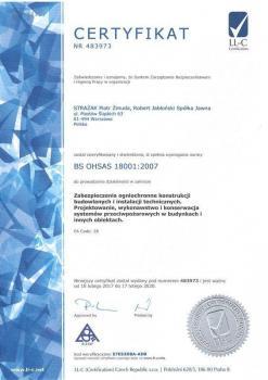 systemy przeciwpożarowe - certyfikat jakości 6