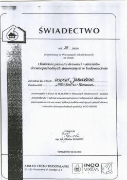 zabezpieczenia bierne - certyfikat 1