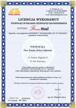 zabezpieczenia bierne - certyfikat 10