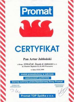 zabezpieczenia bierne - certyfikat 111