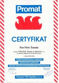 zabezpieczenia bierne - certyfikat 112