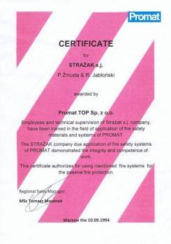 zabezpieczenia bierne - certyfikat 113