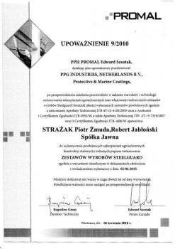 zabezpieczenia bierne - certyfikat 12