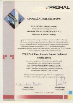 zabezpieczenia bierne - certyfikat 13
