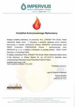 zabezpieczenia bierne - certyfikat 15