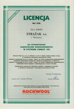 zabezpieczenia bierne - certyfikat 19