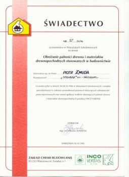 zabezpieczenia bierne - certyfikat 2