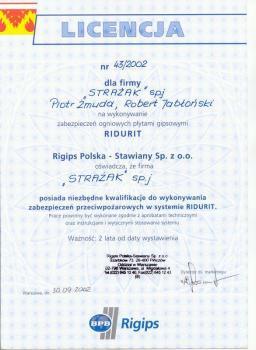 zabezpieczenia bierne - certyfikat 24