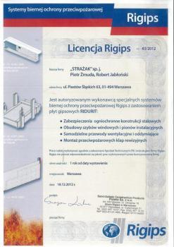 zabezpieczenia bierne - certyfikat 25