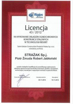 zabezpieczenia bierne - certyfikat 26