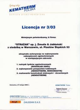 zabezpieczenia bierne - certyfikat 29
