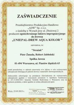 zabezpieczenia bierne - certyfikat 3