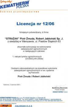 zabezpieczenia bierne - certyfikat 30