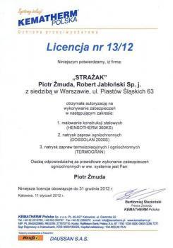 zabezpieczenia bierne - certyfikat 31
