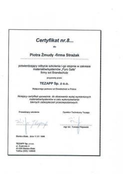 zabezpieczenia bierne - certyfikat 32