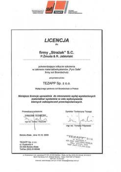 zabezpieczenia bierne - certyfikat 33