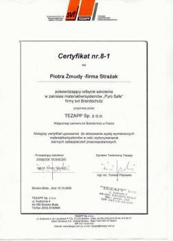 zabezpieczenia bierne - certyfikat 34