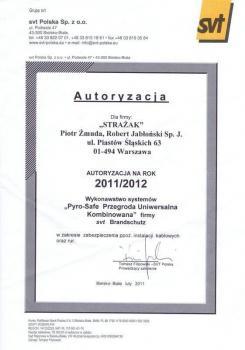 zabezpieczenia bierne - certyfikat 36