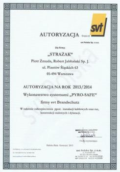 zabezpieczenia bierne - certyfikat 37