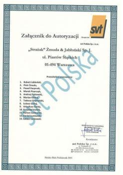 zabezpieczenia bierne - certyfikat 38