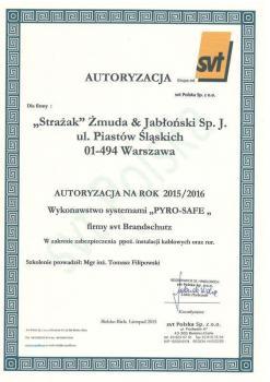 zabezpieczenia bierne - certyfikat 39