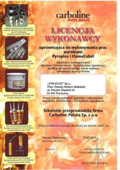 zabezpieczenia bierne - certyfikat 40