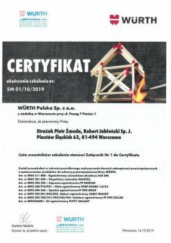 zabezpieczenia bierne - certyfikat 44