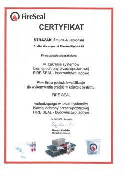 zabezpieczenia bierne - certyfikat 45