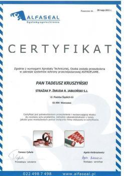 zabezpieczenia bierne - certyfikat 46