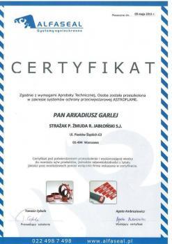 zabezpieczenia bierne - certyfikat 47