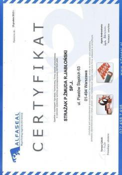 zabezpieczenia bierne - certyfikat 50