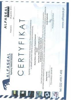 zabezpieczenia bierne - certyfikat 52