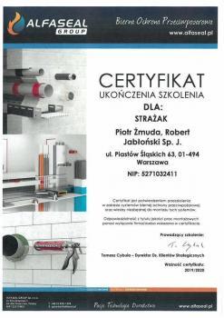 zabezpieczenia bierne - certyfikat 53