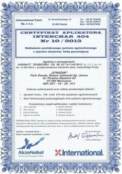 zabezpieczenia bierne - certyfikat 55
