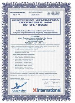 zabezpieczenia bierne - certyfikat 56