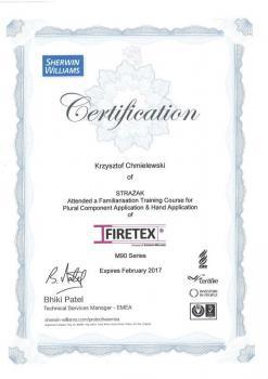 zabezpieczenia bierne - certyfikat 58