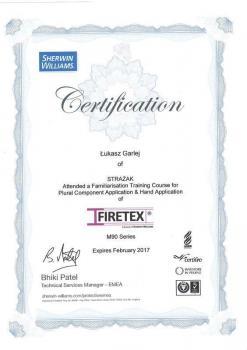 zabezpieczenia bierne - certyfikat 59