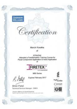 zabezpieczenia bierne - certyfikat 60
