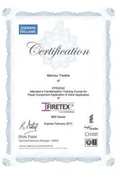 zabezpieczenia bierne - certyfikat 61