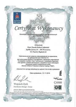 zabezpieczenia bierne - certyfikat 64