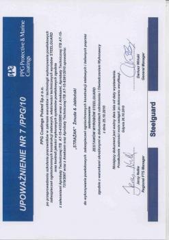 zabezpieczenia bierne - certyfikat 65