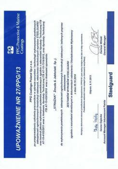 zabezpieczenia bierne - certyfikat 66