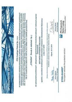 zabezpieczenia bierne - certyfikat 67