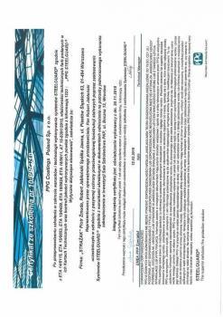 zabezpieczenia bierne - certyfikat 68