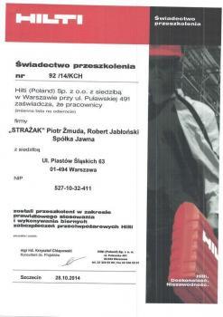 zabezpieczenia bierne - certyfikat 71