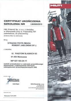zabezpieczenia bierne - certyfikat 75